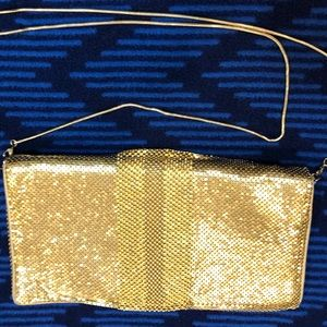 BCBGMaxazria 100% Aluminum Gold Purse